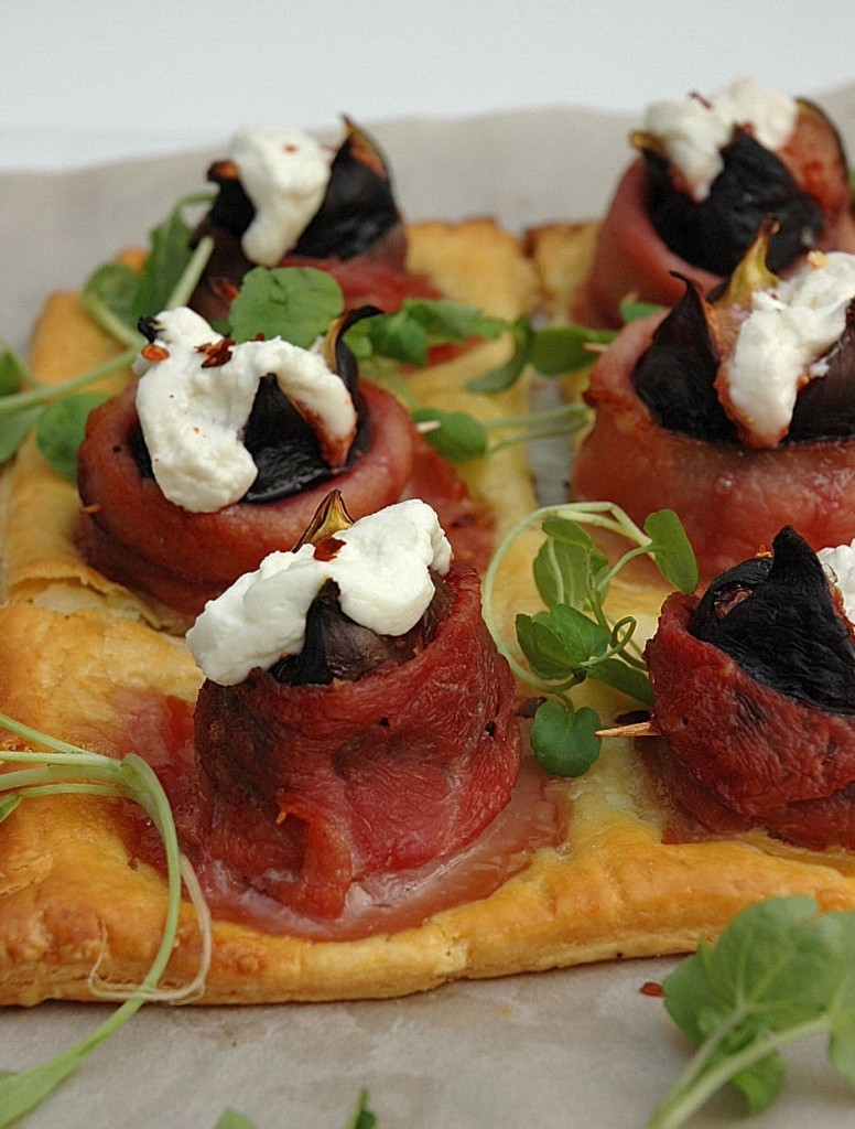 Bacon, Fig and Goat's Cheese Tart - My Easy Cooking