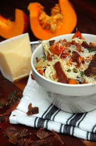 Easy pasta recipes-Pasta-with biltong-butternut-and bacon