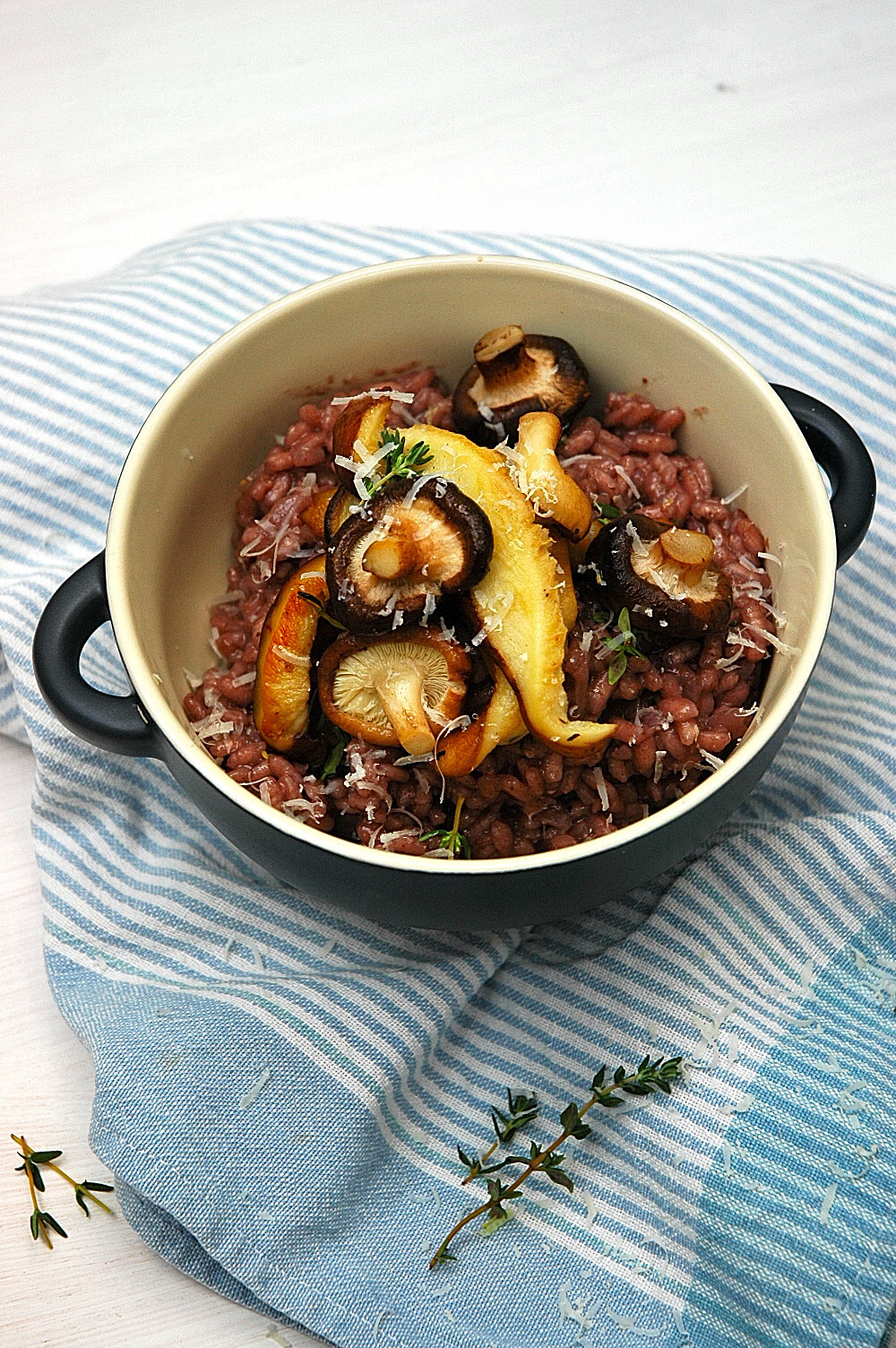 risotto creamy red wine risotto delicious buttery shiitake mushrooms ...