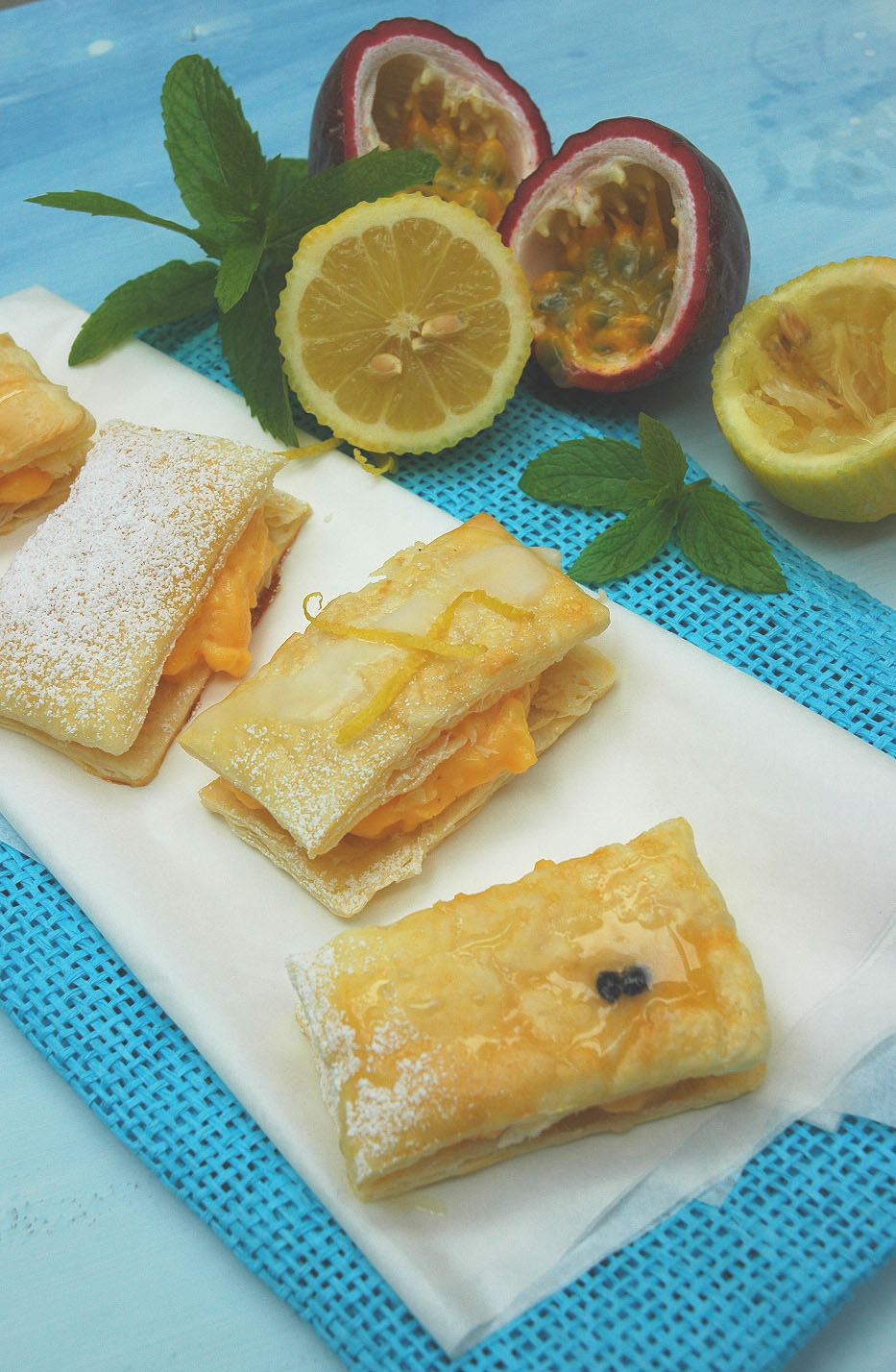how to make custard slices with puff pastry