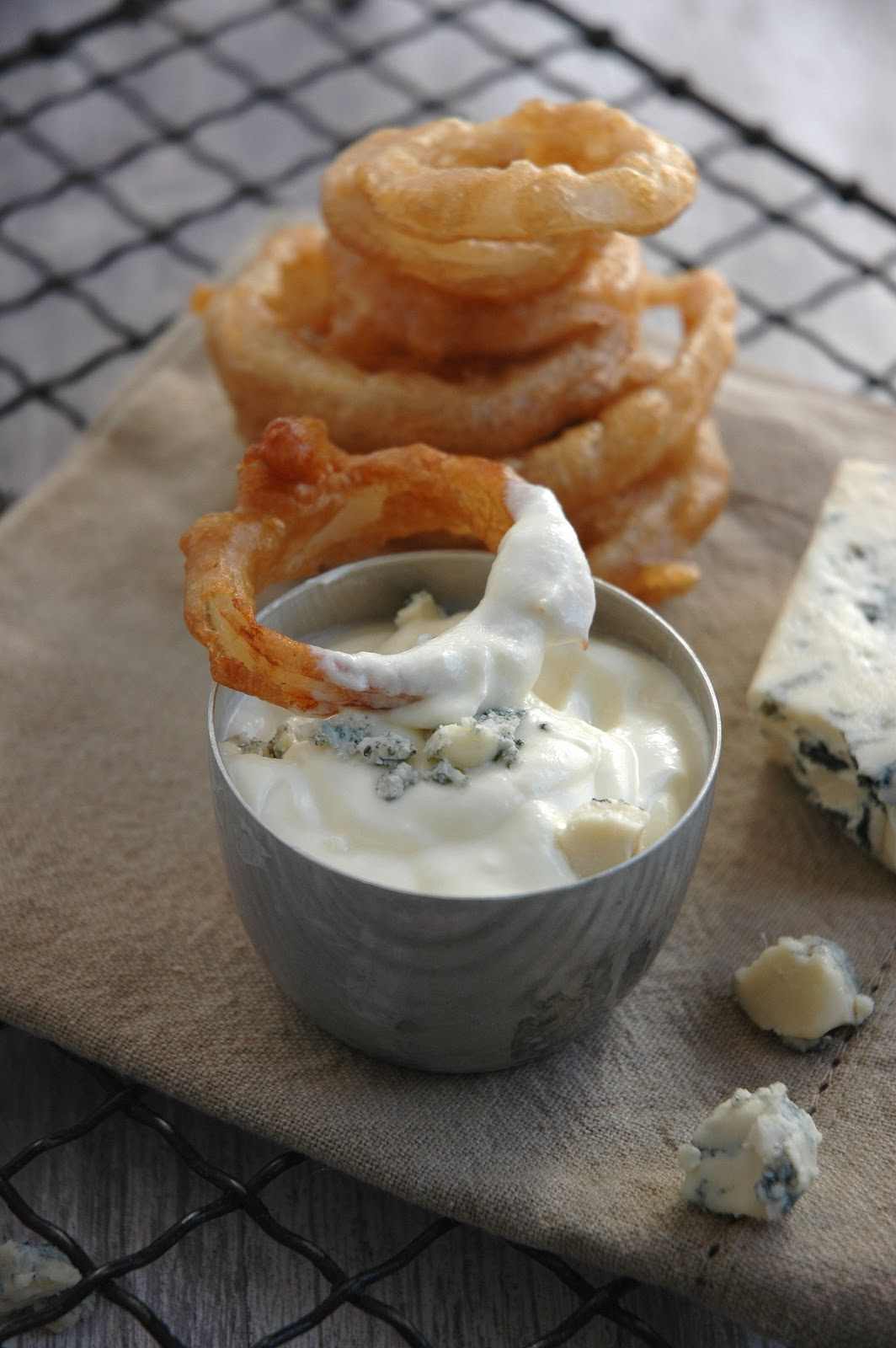 "10 Responses to ""Blue Cheese Dip for my Stout Hearted Onion Rings"""