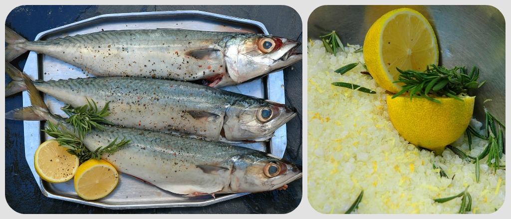 Mackerel baked in lemon flavored salt my easy cooking for How to cook mackerel fish