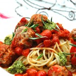 Spaghetti and Meatballs with rosemary