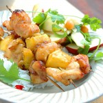 Pineapple and Chicken Kebabs