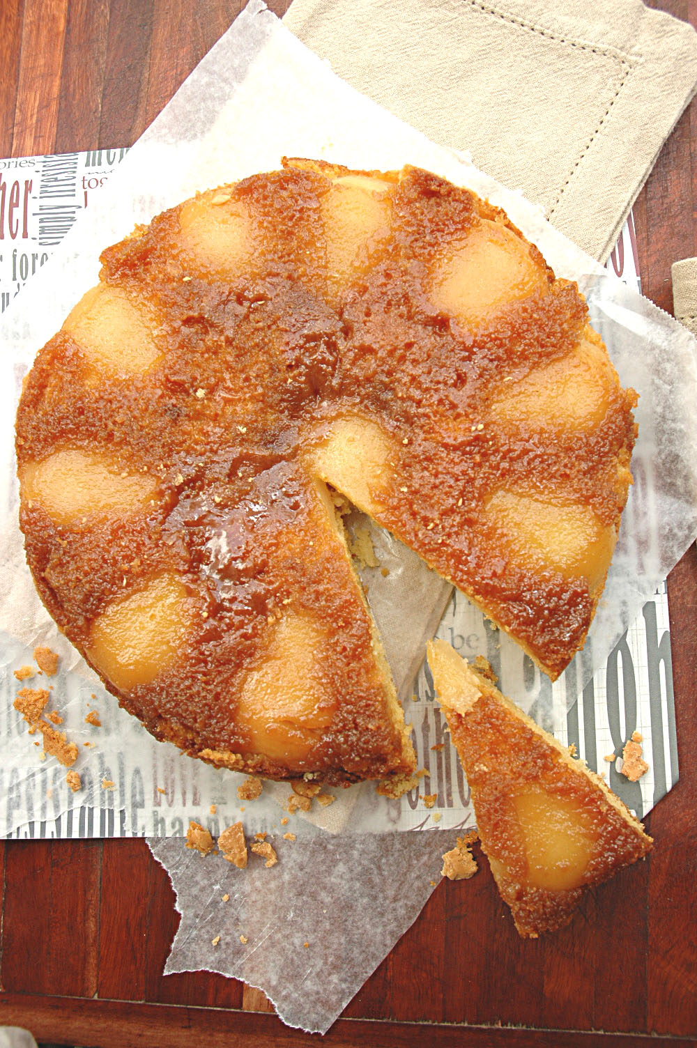 Fudgy Coffee Cake With Caramelized Pears My Easy Cooking