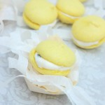 Easter Macarons with White Chocolate and Passion fruit Ganache