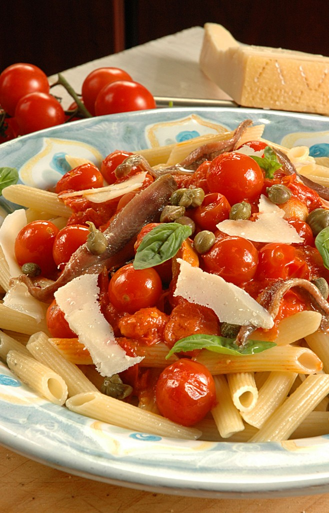 Tomato Pasta Sauce with Anchovies and Capers