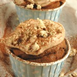 Chocolate Cupcakes with Halva Buttercream Frosting