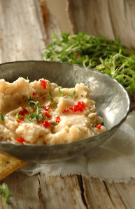 Easy vegetarian Butter Bean Dip snack