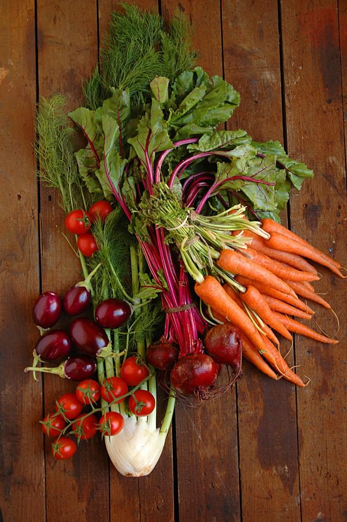 Fresh vegetables for roasting