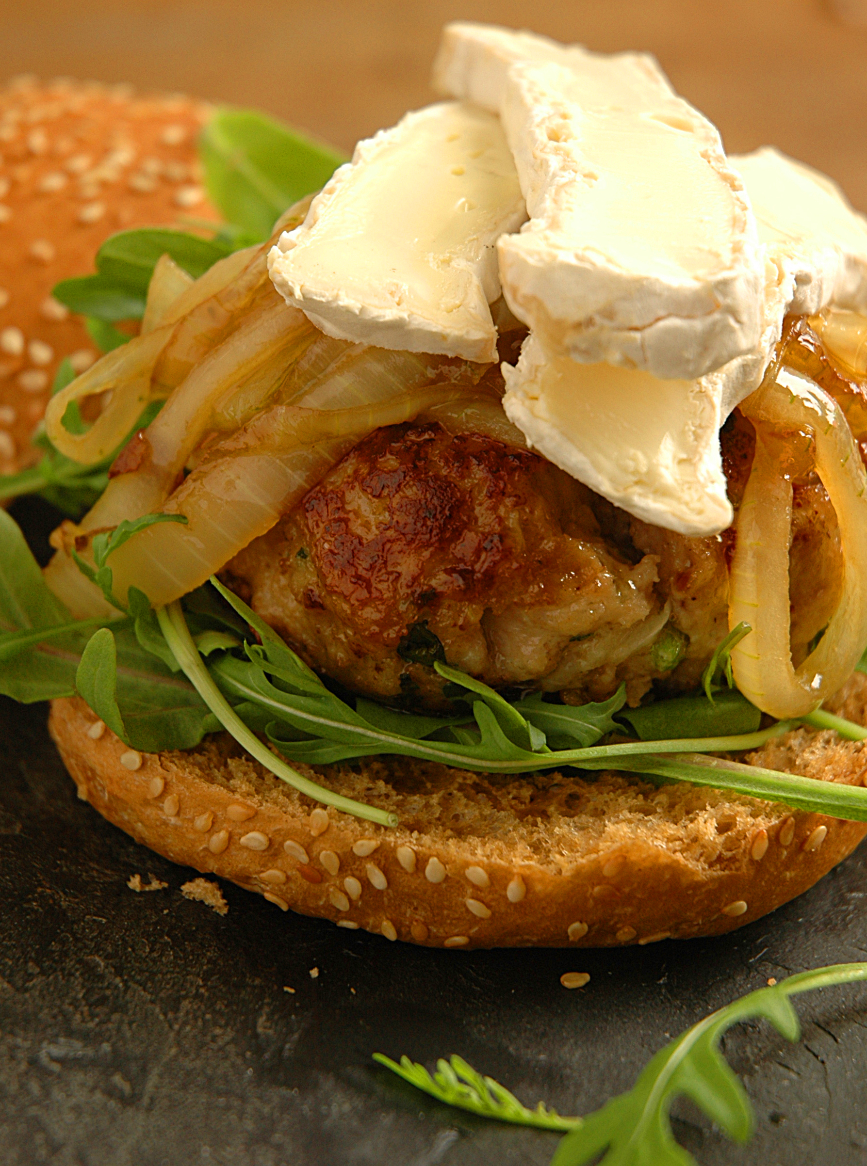 Pork and Apple Burgers – from Simple and Delicious by Alida Ryder