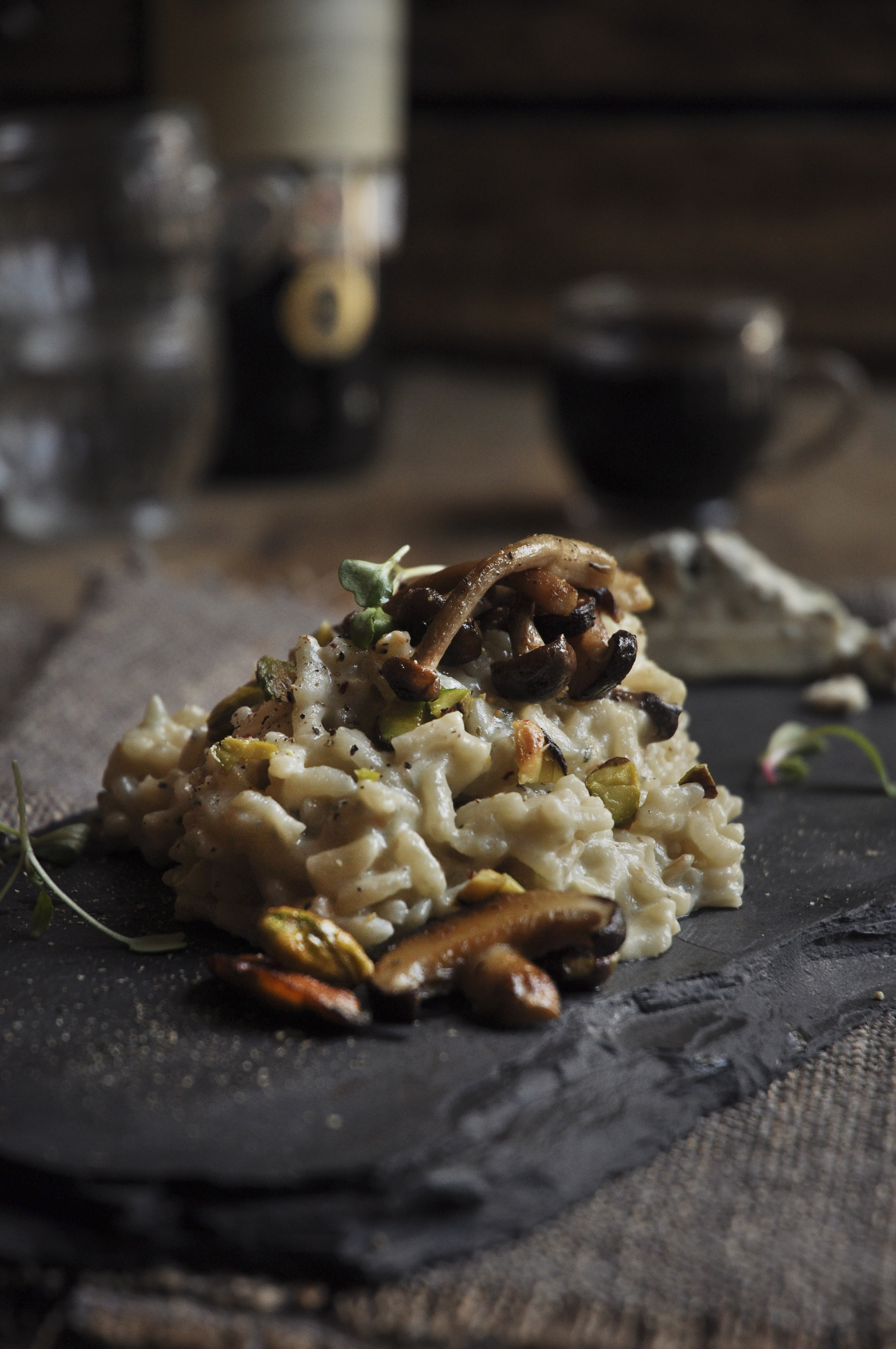 Wild Mushroom Risotto is my ultimate comfort food! It's like a hug ...