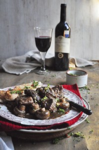 Beef Stew with Mushrooms and Gremolata - My Easy Cooking