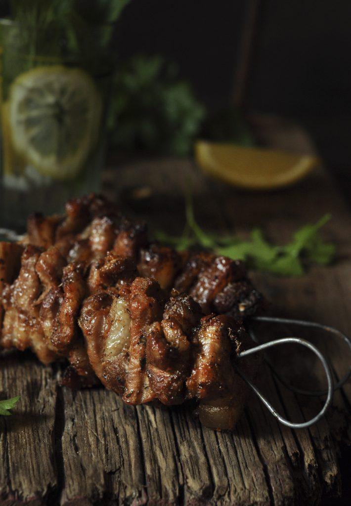 pork belly kebabs