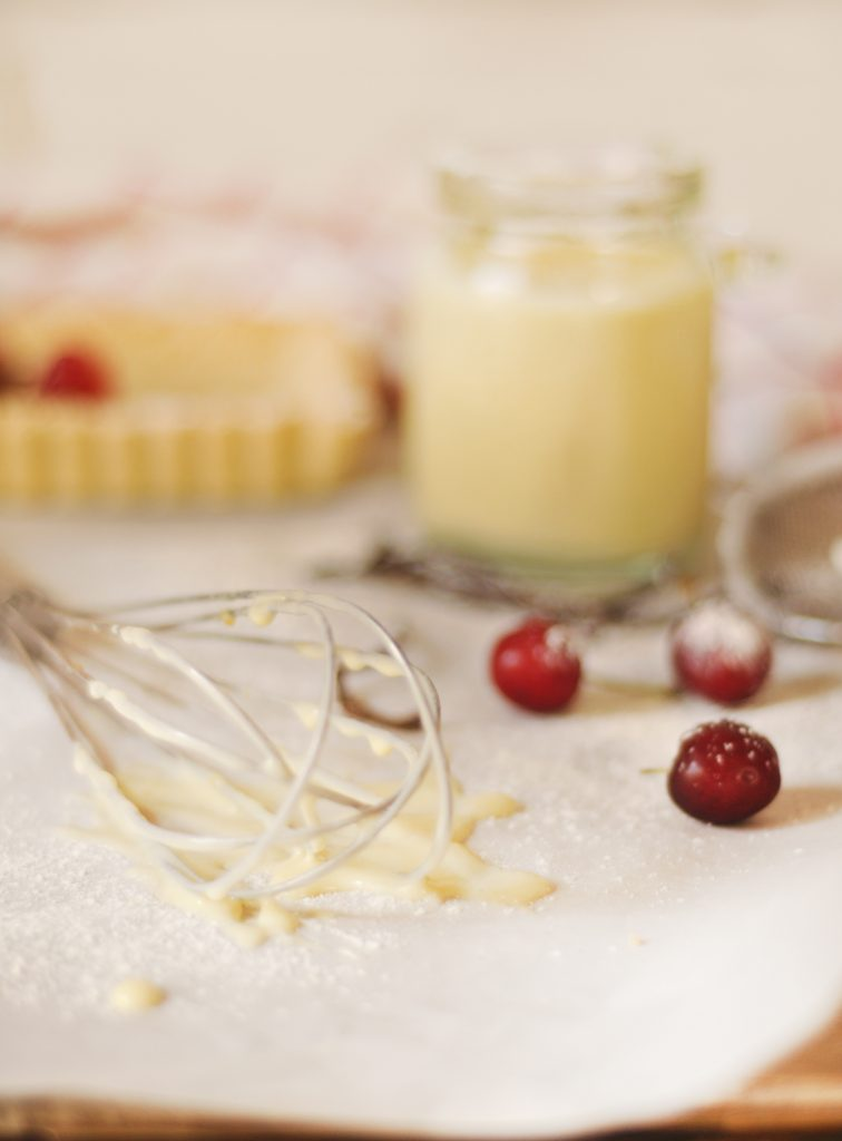 Creme Patissiere Tart with red currents and Pistachio Praline - My ...