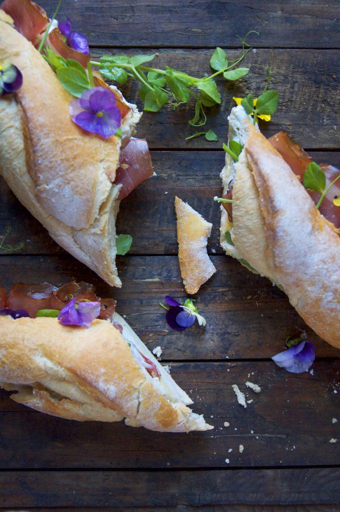 Baguette Parma Labneh Sandwich