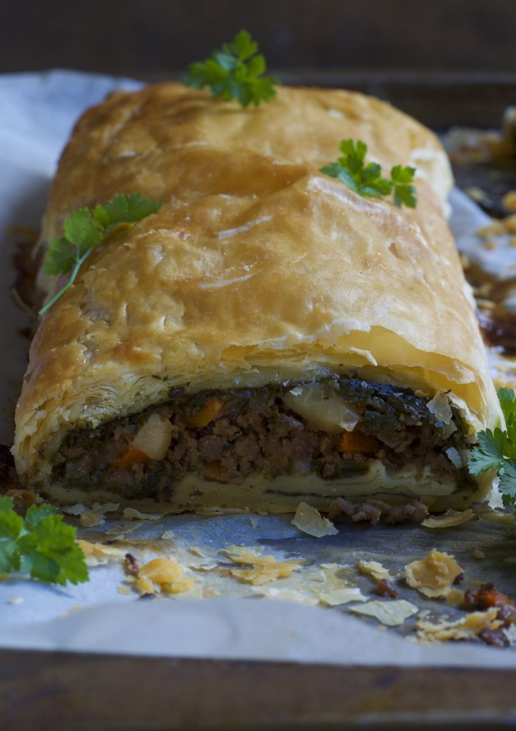 Puff Pastry Mince Roll