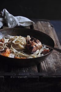 Creamy Roasted Chicken Tagliatelle