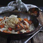Creamy Roasted Chicken Tagliatelle