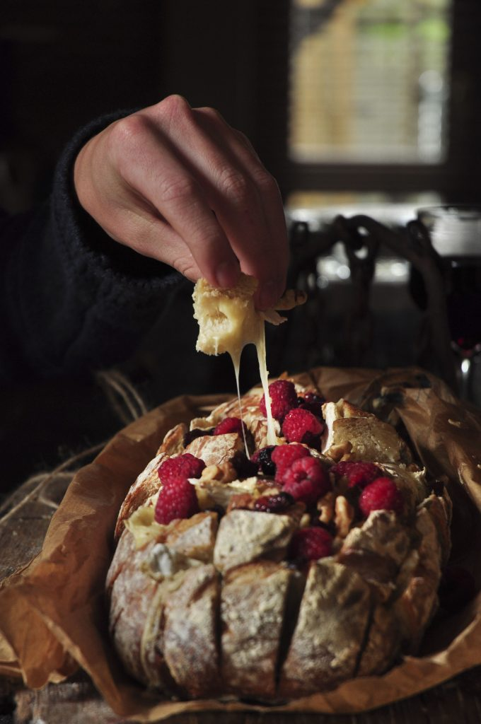 Camembert Cranberry Pull Apart Loaf