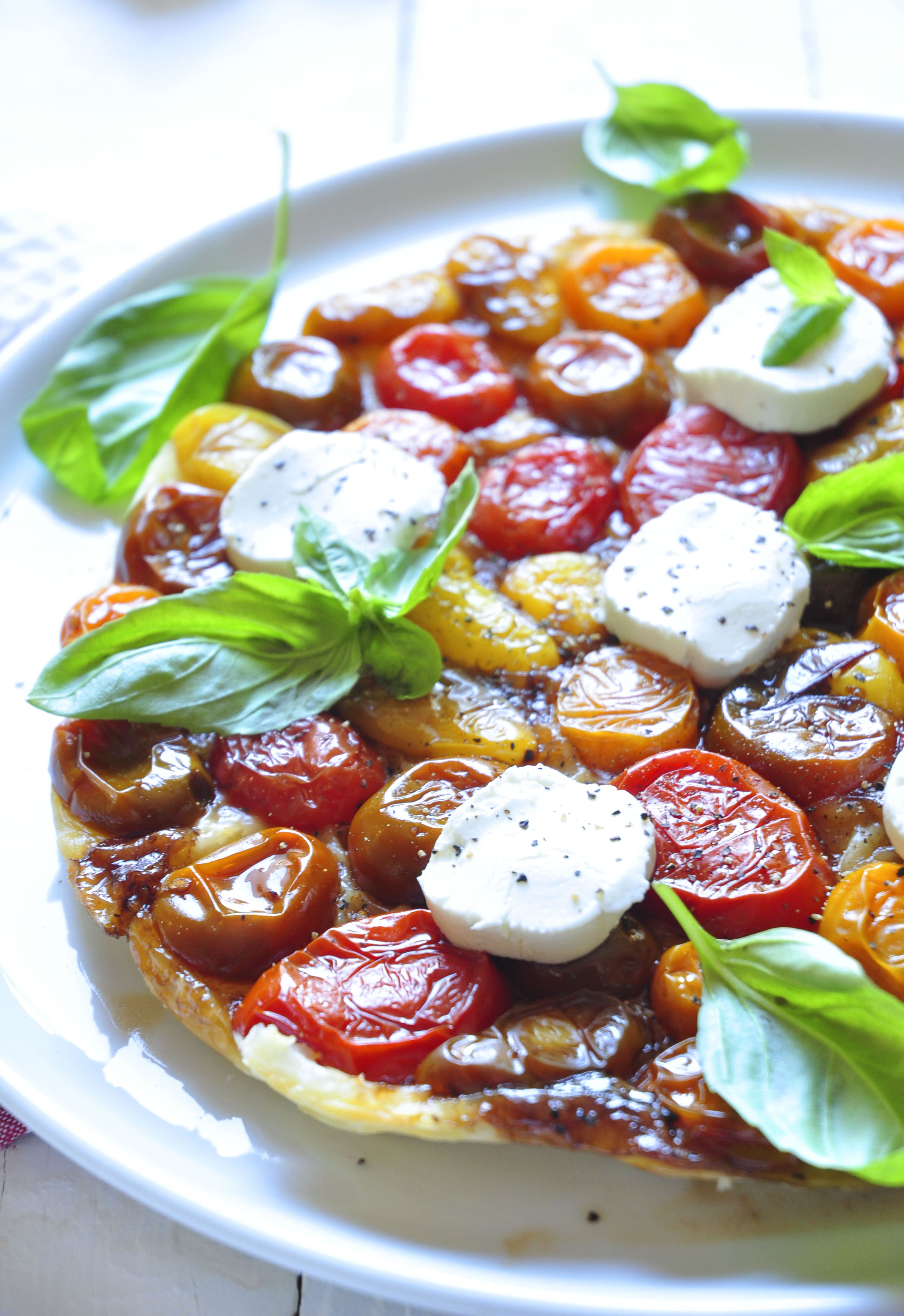 Tomato Tarte Tatin with Goats Cheese