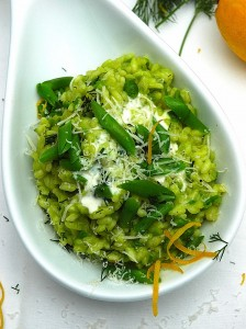 Risotto recipes-Spring Risotto with peas-and goats cheese