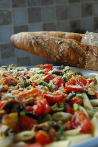 Penne with Summer Vegetables
