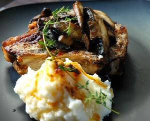 Roast pork chops