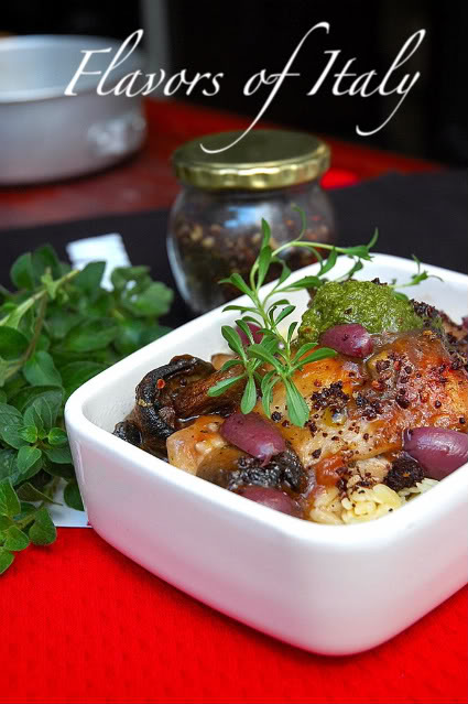 Fiesta Italiana Risoni-with chicken mushrooms-and olives