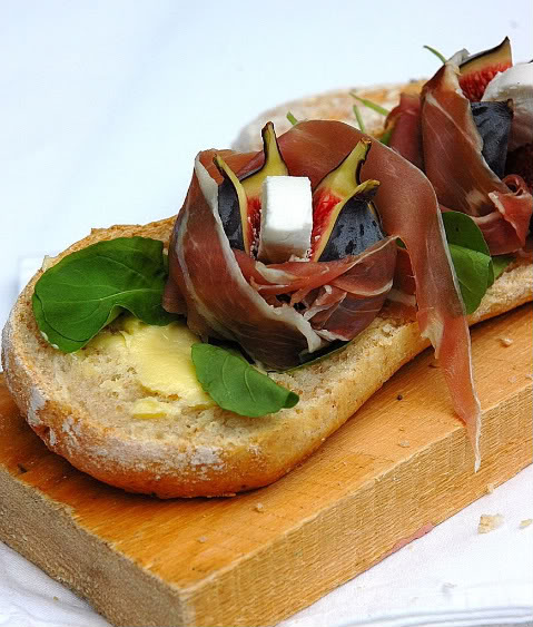 Ciabatta with Rocket Black Mission Figs,
