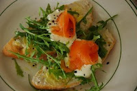 Delicious Salmon and Rocket Sandwich