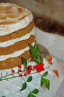 Coffee and Walnut cake with Iced-coffee Frosting