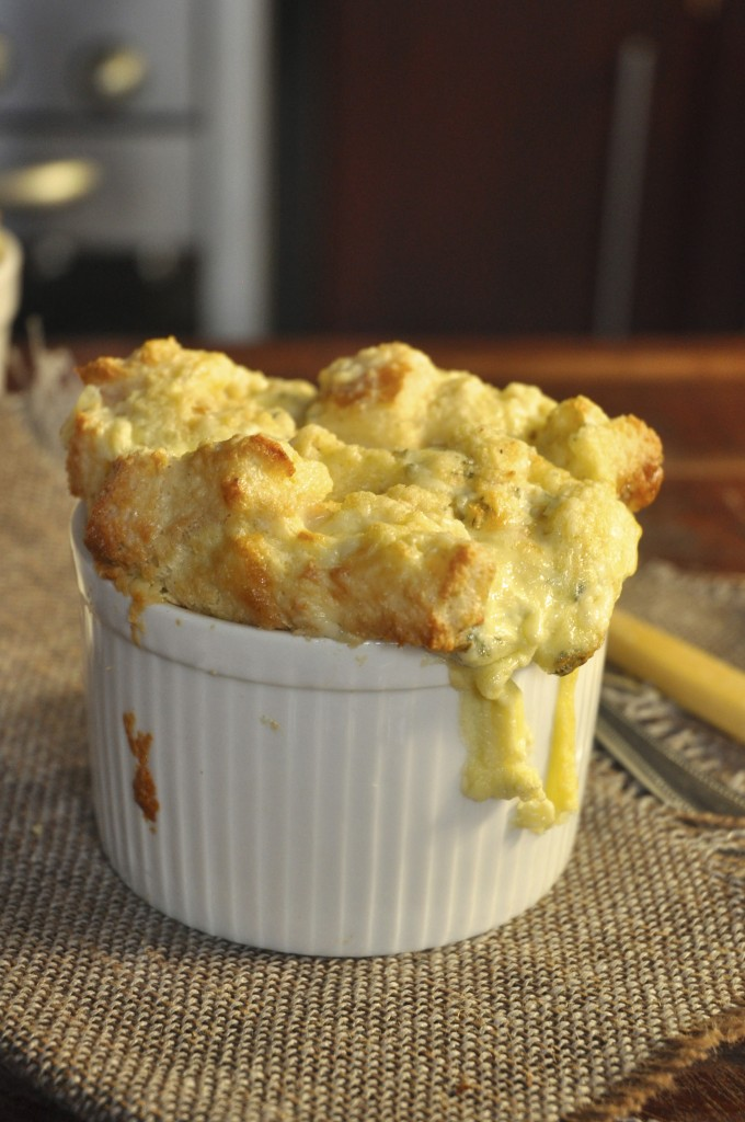 Blue Cheese Souffle with only 5 ingredients!