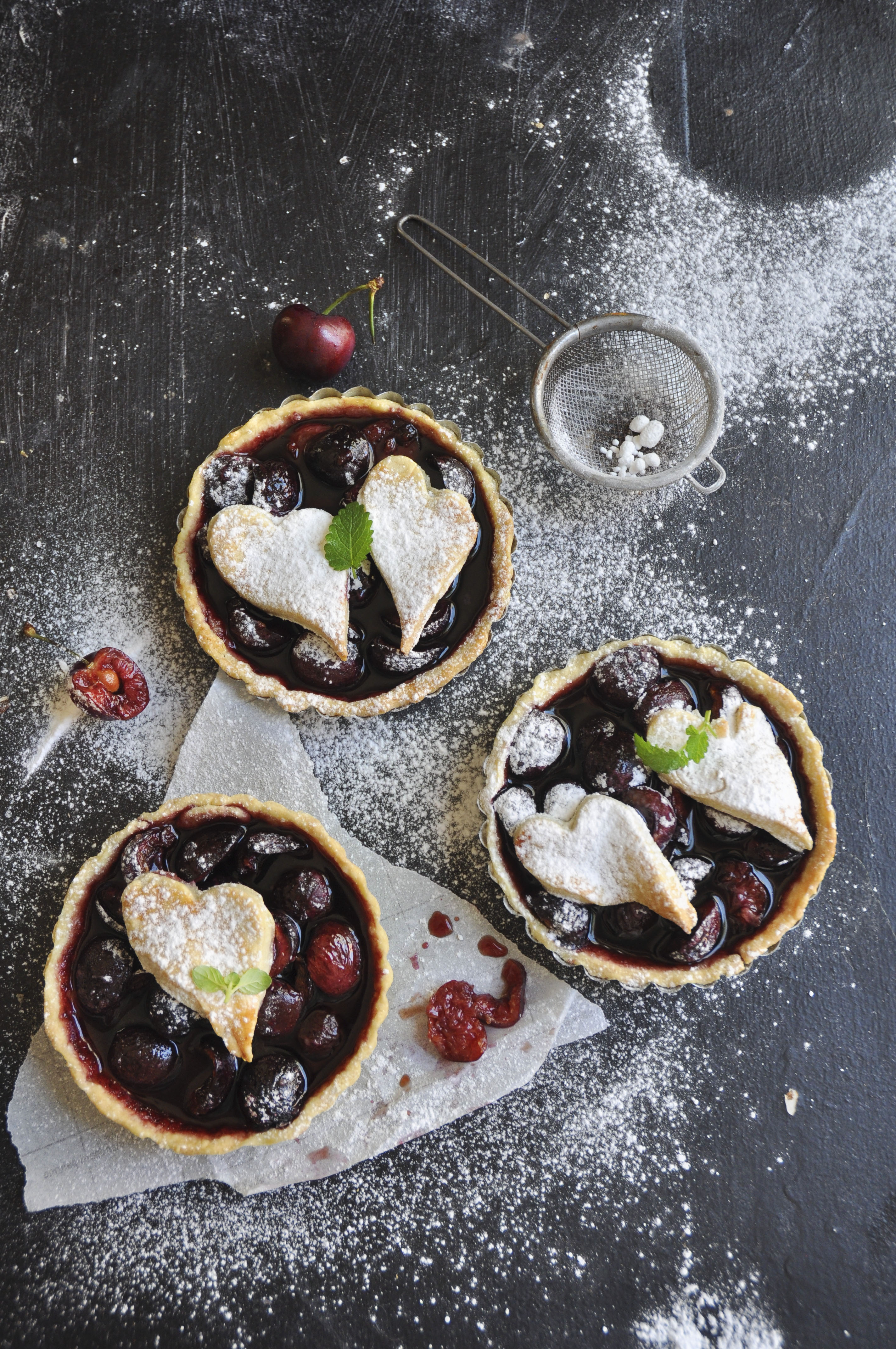 Cherries Almond Tarts