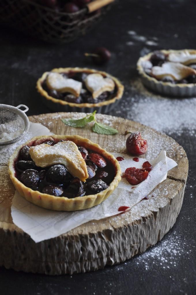 Cherries Almond Tarts