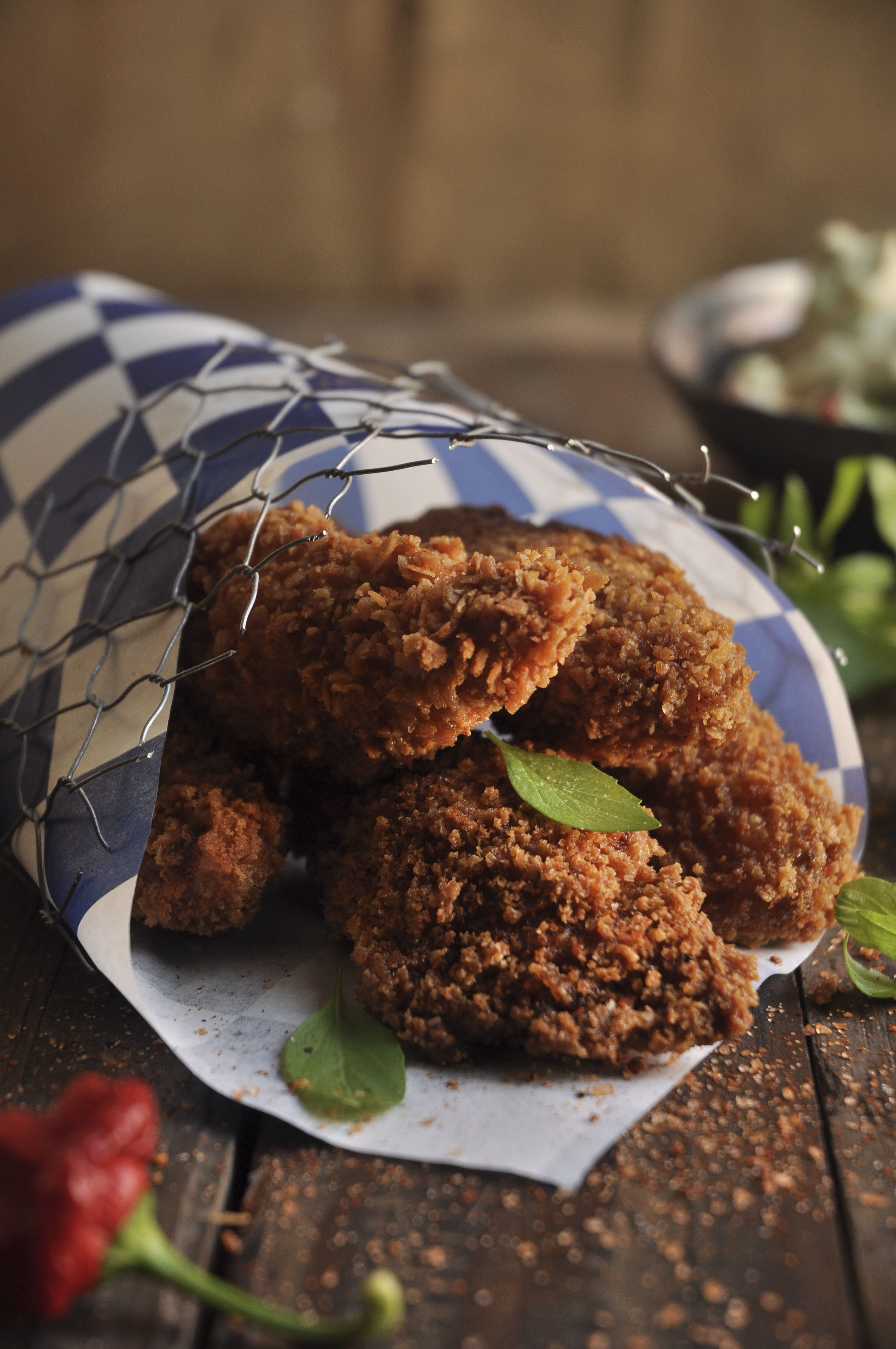 Crispy crunchy buffalo wing