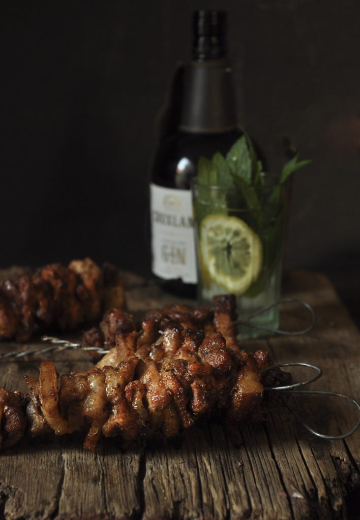 pork belly kebabs