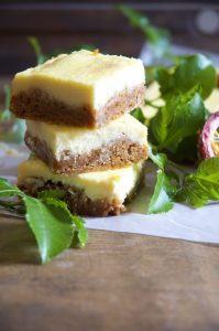 Passion fruit Cheesecake Slices