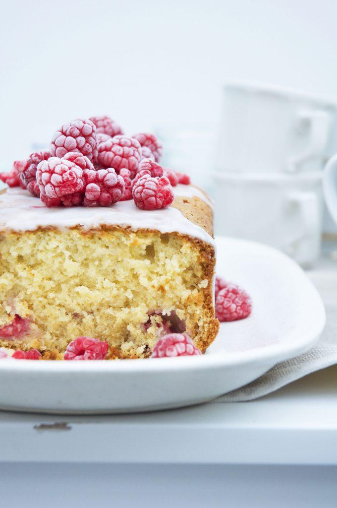 Raspberry Coconut Pound Cake