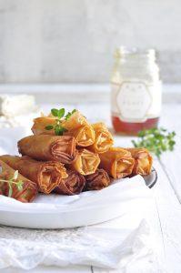 Camembert Honey Walnut Phyllo Cigars