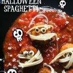 Fishy Halloween Spaghetti