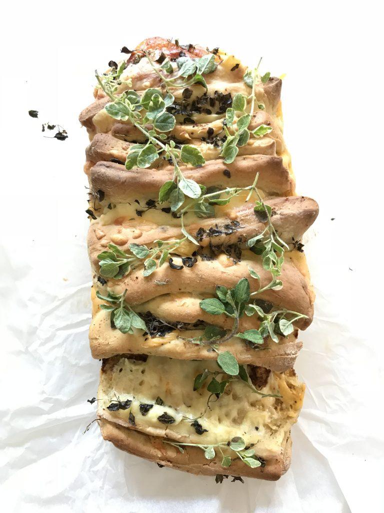 Cheesy Biltong Pull Apart Loaf