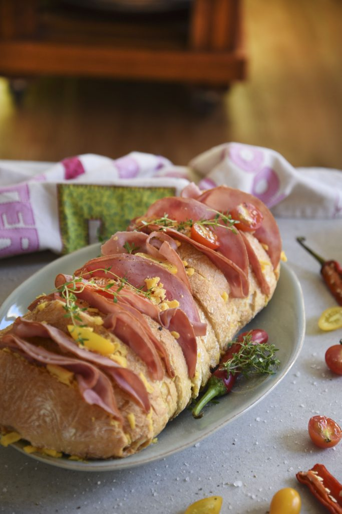 Baked Ham and Cheese Bread