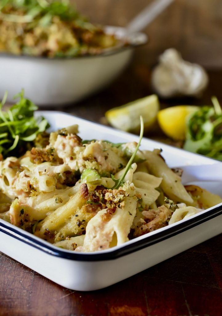 Salmon and Asparagus Pasta Bake