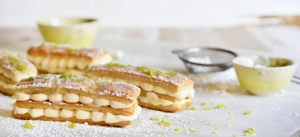 Lime Mousse Slices