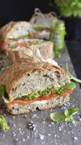 Picnic Loaf with Trout and Pesto