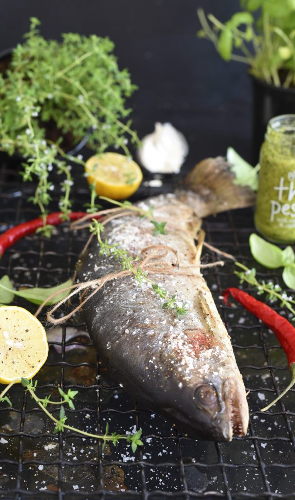 Stuffed Trout on the Grill