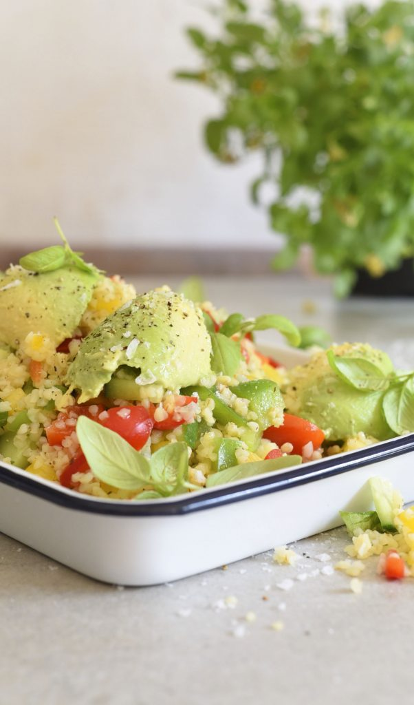 Healthy Bulgar Wheat Avocado Salad