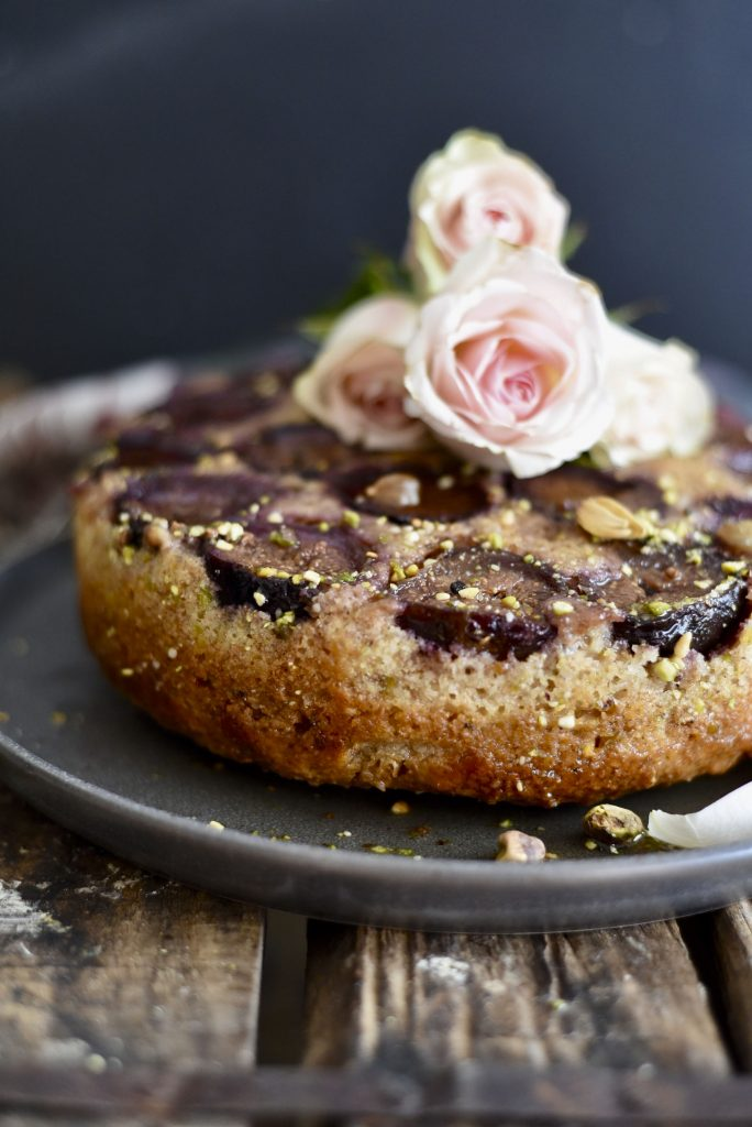Fig and Almond Yogurt Cake