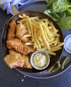 Beer-battered Trout